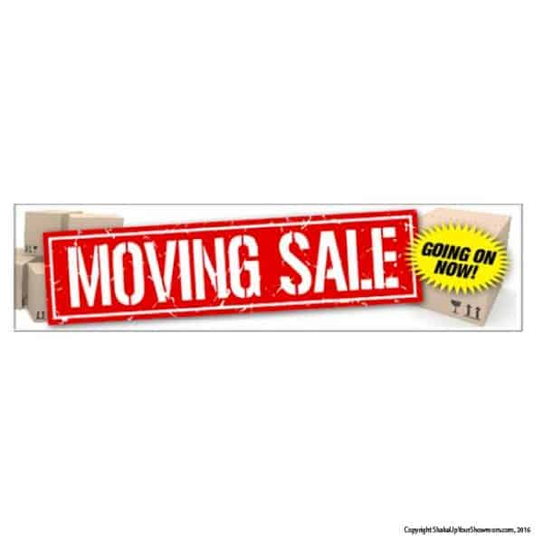 moving sale vinyl banner
