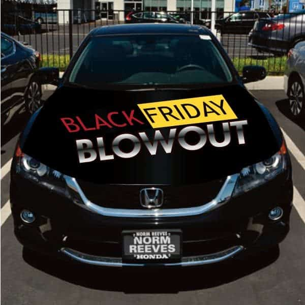 Black Friday Car Flag Hoodie