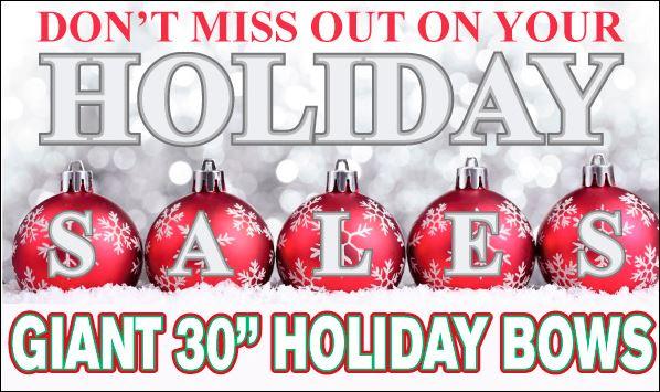 Holiday Car Bow Sales