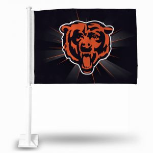 Bears Head Flag with Burst