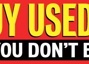 We Buy Used Cars - 12 foot x 3 foot - Vinyl Banner